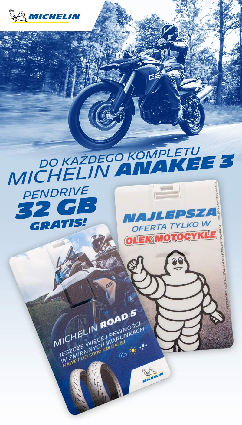 Pendrive 32gb w Olek Motocykle, pendrive Michelin