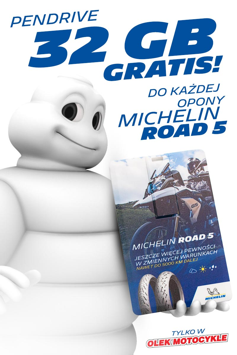 Pendrive Michelin do każdej opony MIchelin Road 5